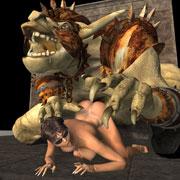 Girls and Fantasy Beasts